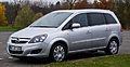 Opel Zafira 1.6 CNG ecoFlex Turbo Design Edition (B, Facelift) – Frontansicht, 17. November 2012, Heiligenhaus.jpg