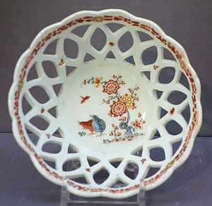Openwork - Openwork basket, English Bow porcelain, c. 1754–1755