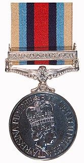 Operational Service Medal for Afghanistan Award