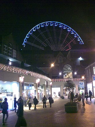 Orchard Square - Orchard Square, with the Wheel of Sheffield (now removed) visible in the background.