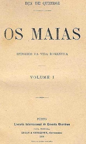 José Maria de Eça de Queirós - Cover of the first edition of Os Maias