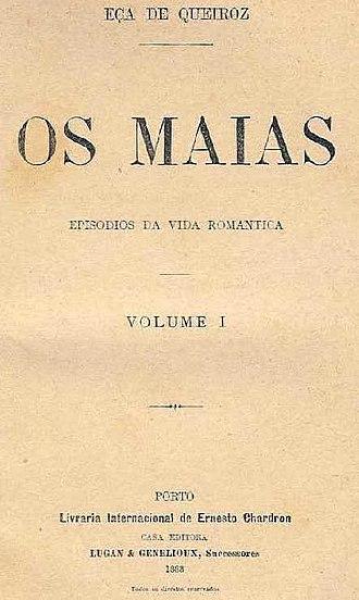 José Maria de Eça de Queirós - Cover of the first edition of Os Maias