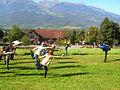 Outdoor yoga class in Vaduz Liechtenstein Himalayan Yoga Center.JPG