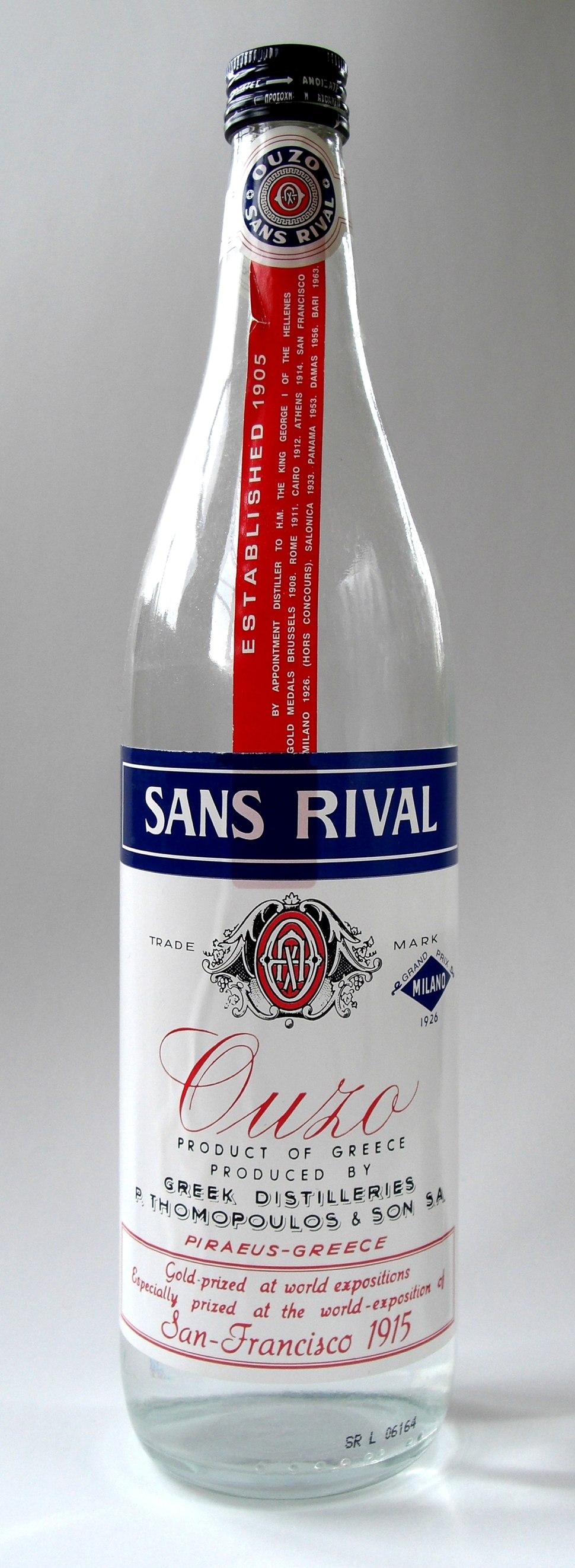 Ouzo Sans Rival Bottle