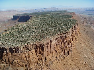 Mesa - Aerial view of mesas in Monument Valley, on the Colorado Plateau.