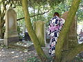 Père-Lachaise, Trees, tombs, and a yukata (10148105396).jpg
