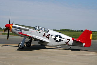 Tuskegee Airmen - The P-51C Mustang flown by Commemorative Air Force in the colors and markings of Lieutenant Colonel Lee Archer