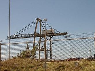 Rafael Cordero Santiago Port of the Americas - Image: POTA crane