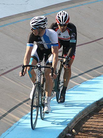 Sep Vanmarcke - Vanmarcke and Fabian Cancellara in the climax of the 2013 Paris–Roubaix. Cancellara out-sprinted Vanmarcke for victory at the velodrome in Roubaix.