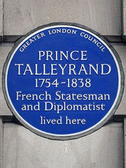 Prince talleyrand 1754 1838 french statesman and diplomatist lived here
