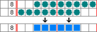 Nonogram - Image: Paint by numbers Solving Example 1