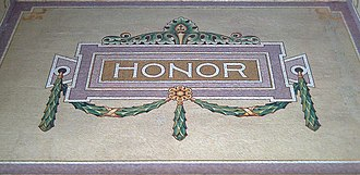 Honour - Honor Mosaic c 1914 in the Pantheon of Illustrious Men, Madrid (Spain)