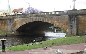 Lennox Bridge, Parramatta - A view of the Lennox Bridge from the northeastern bank of Parramatta River.