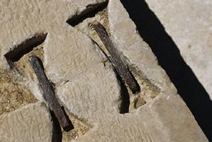 Pasargadae - Dovetail Staples from Pasargadae