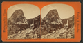 Passenger train from Cap of Liberty, Yosemite Valley, Cal, by Reilly, John James, 1839-1894.png