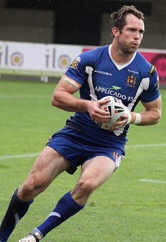 Pat Richards - Richards playing for the Wigan Warriors