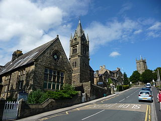 Pateley Bridge town in Nidderdale in the Borough of Harrogate, North Yorkshire, England