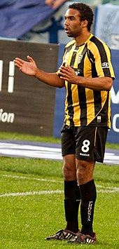Paul Ifill later in his career when playing for Wellington Phoenix