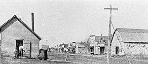 Paxico, Kansas - Main Street in Paxico, 1901