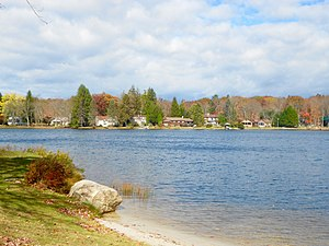 Penn Lake Park, Pennsylvania - Image: Penn Lake Park Luz Co PA 2