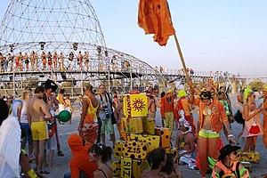KaZantip - Orange is the main color of KaZantip.