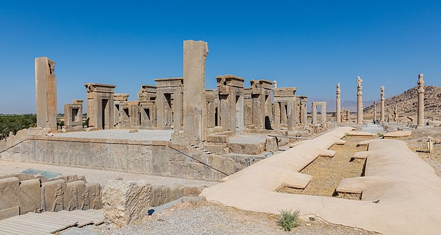 The ruins of Persepolis in present-day Iran, approximately 2500 years old