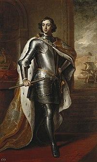 Пётр i Википедия 26 летний Пётр i Портрет кисти Кнеллера был подарен Петром в 1698 английскому королю