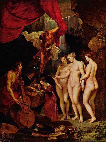 Обучение Марии Медичи. Холст, масло. 394 × 295 см. Лувр