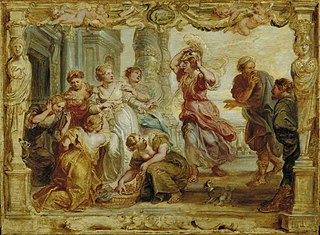 Achilles recognized among  the daughters of Lycomedes