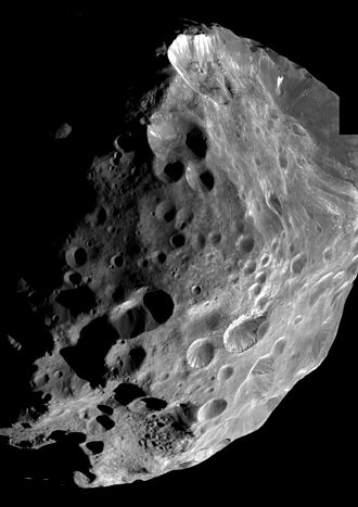 Phoebe (moon) - Cassini mosaic of Phoebe