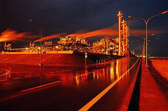 Petroleum - An oil refinery in Mina Al Ahmadi, Kuwait.
