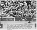 Photograph of the Presidential Box at the Navy-Penn State Football Game - NARA - 198646.tif