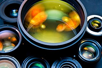 Camera lens - Different kinds of camera lenses, including wide angle, telephoto and speciality