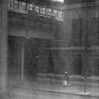 Sedgwick station (CTA) - The station circa 1965