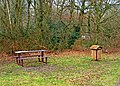 Picnic table and litter bin on Westfield Common - geograph.org.uk - 1757972.jpg