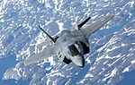 Pictured is the first of the UK's F-35B Lightning II jets to be flown to the UK. MOD 45160019.jpg