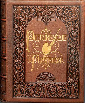 Picturesque America - Cover of Volume I of Picturesque America