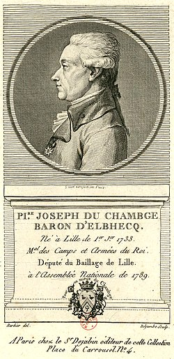 image illustrative de l'article Pierre Joseph du Chambge d'Elbhecq