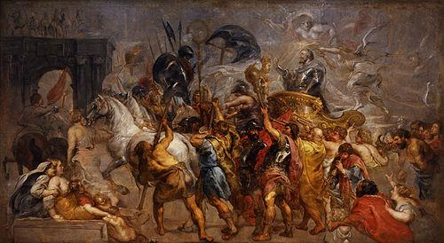 Resultado de imagen para Fotos de la entrada triunfal de Enrique IV de Francia