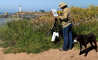 En plein air - Image: Pigeon Point Lighthouse 2