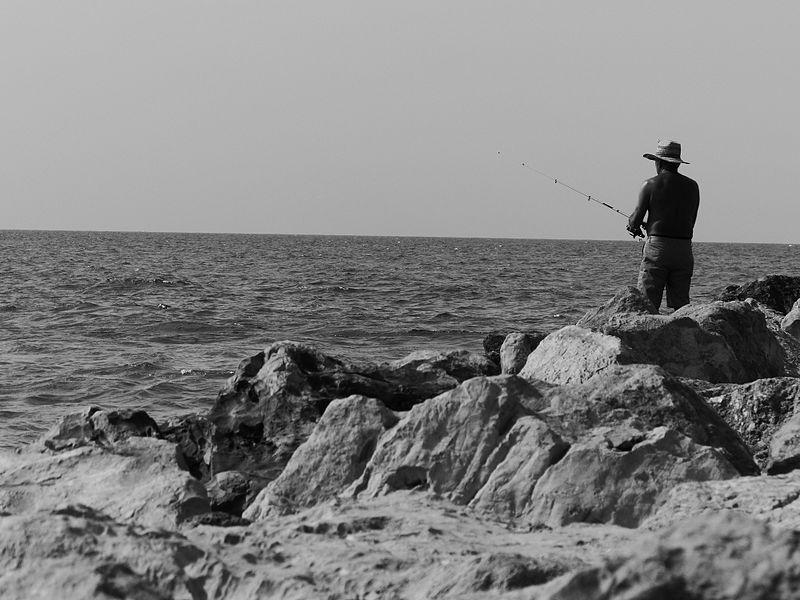 לבד עם הדגים