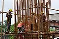 Piller Rebar Placement - Parama-Park Circus Flyover Construction - Kolkata 2012-07-31 0553.JPG