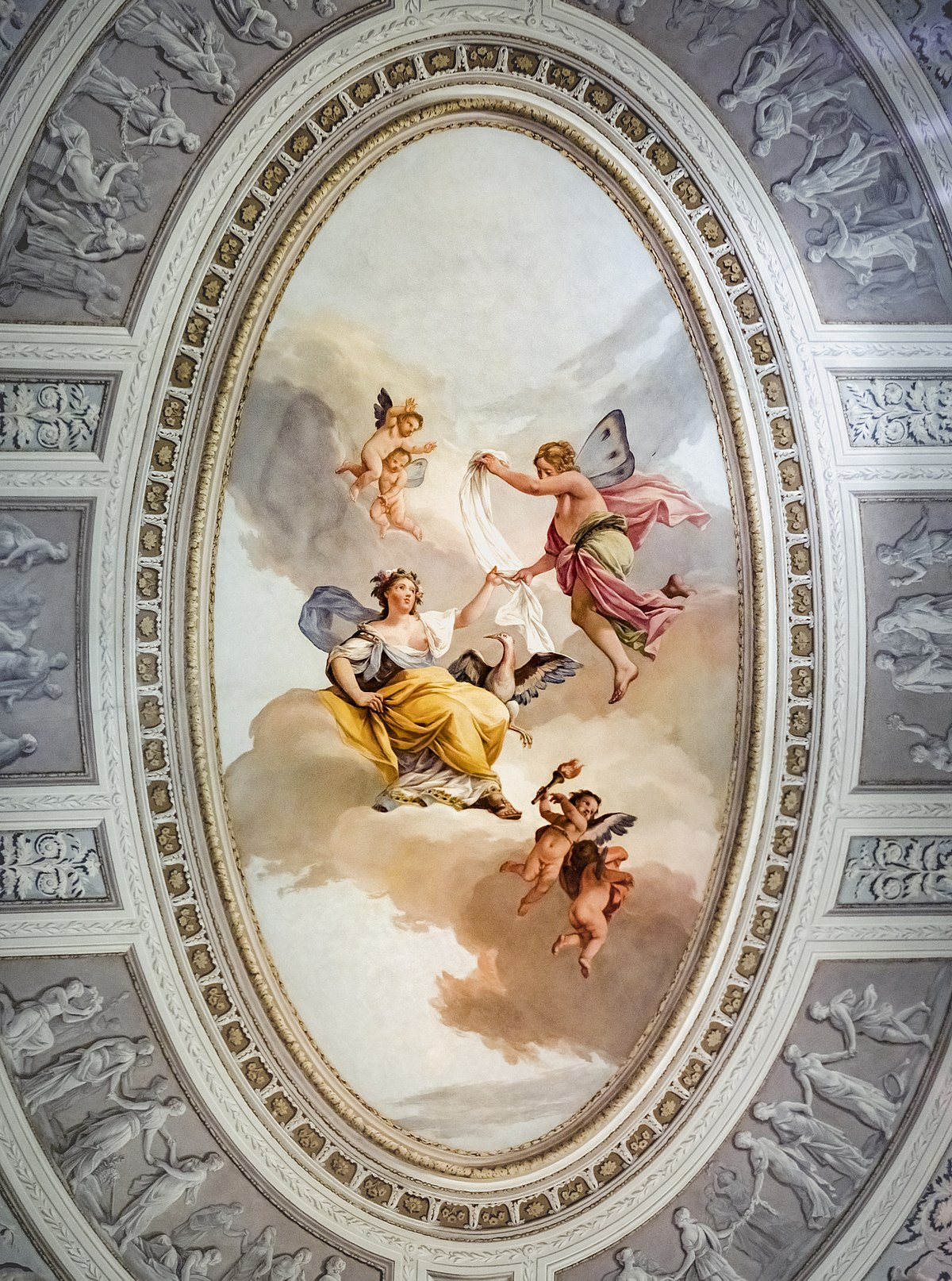 File Pinacoteca Querini Stampalia Zefiro E Flora Soffitto Della Camera Da Letto Da Jacopo Guarana Jpg Wikimedia Commons