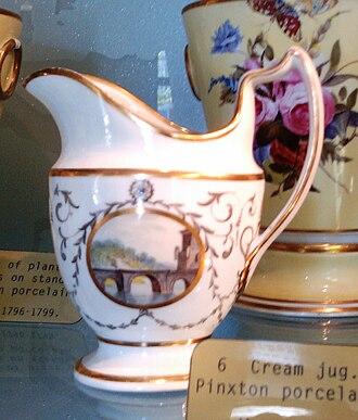 William Billingsley (artist) - Pinxton Cream Jug, about 1800