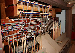 Tracker action - Tracker action in Jørlunde church. Organ by Frobenius (2009)