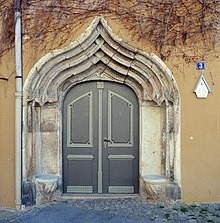 An Ogee Arched Doorway In Pirna, Germany