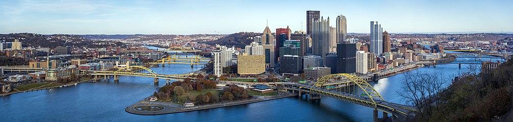 Panorama di Pittsburgh, PA