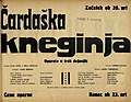 Plakat za predstavo Čardaška kneginja v Narodnem gledališču v Mariboru 1. marca 1931.jpg