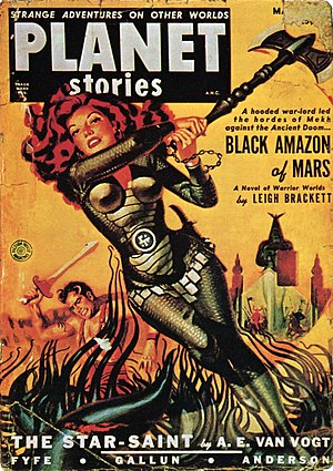 Eric John Stark - Black Amazon of Mars in Planet Stories,  March 1951