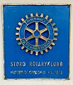Plaque for meetings of Stord Rotaryklubb (Rotary International) in Leirvik, Norway 2018-03-08 IMG 5828.jpg